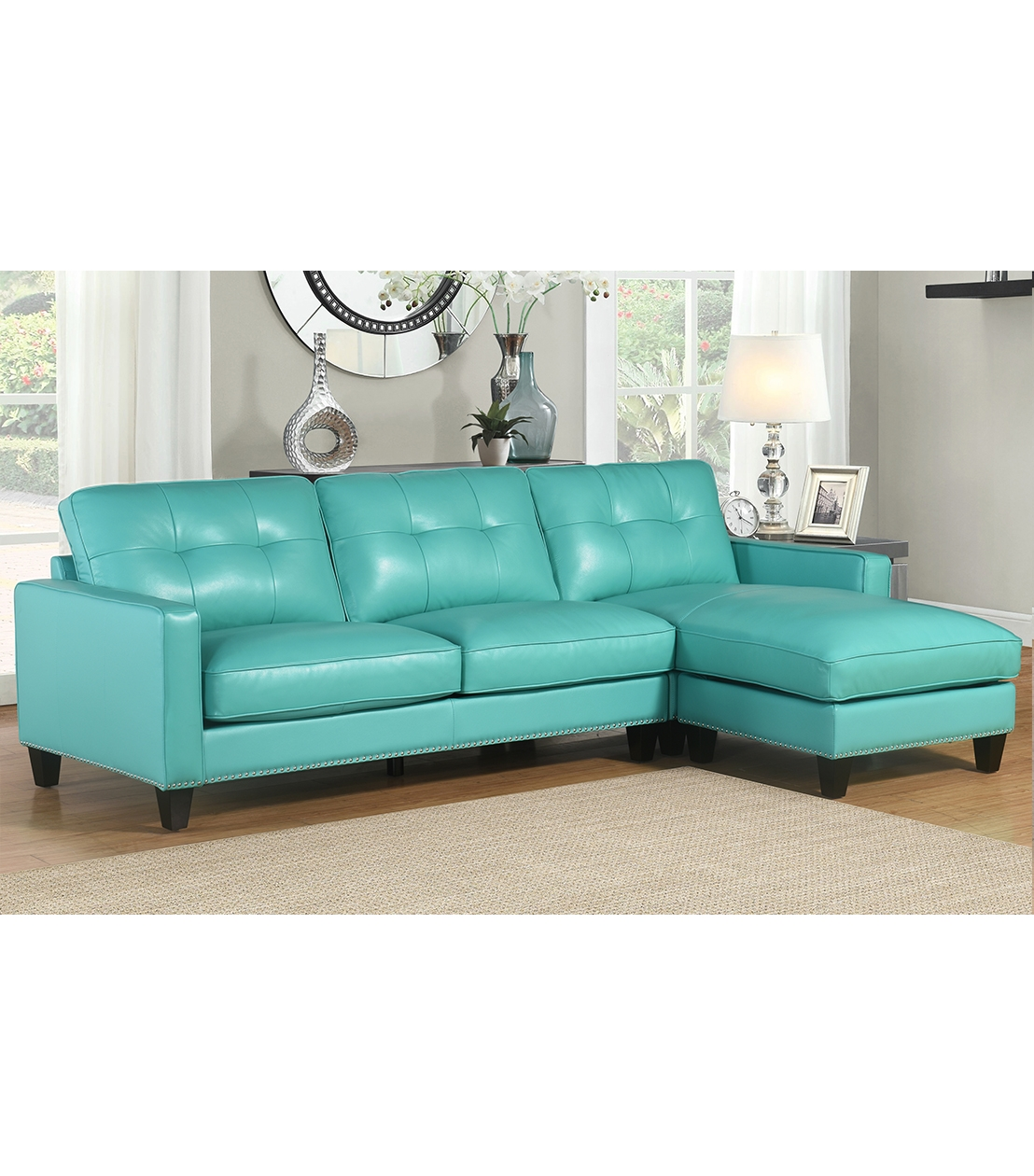 Sectionals Metropolitan Leather Sectional Intended For Abbyson Sectional Sofa (Image 14 of 15)