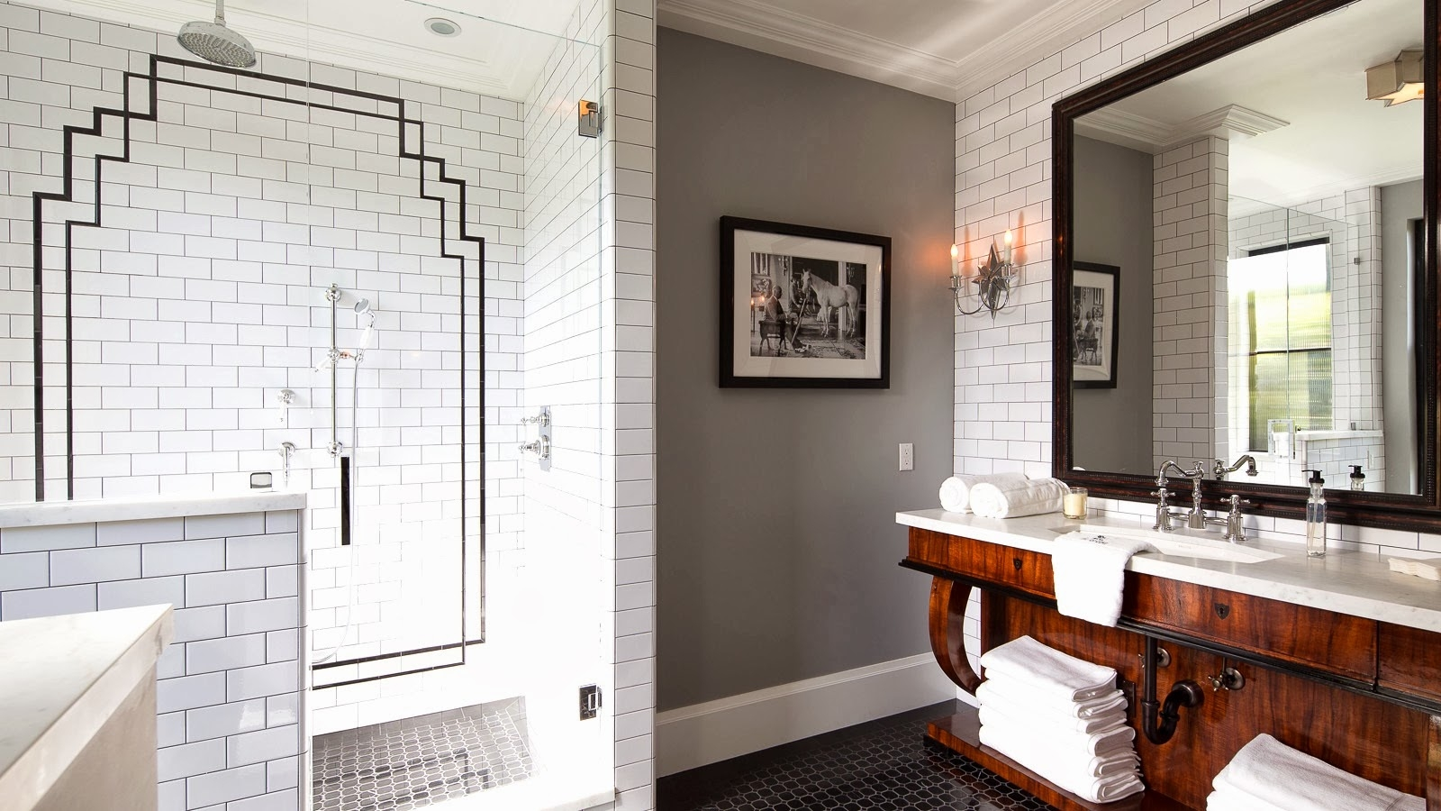 Sensational Large Space Home Bathroom Inspiring Design Expressing Inside Art Deco Style Bathroom Mirrors (Image 13 of 15)