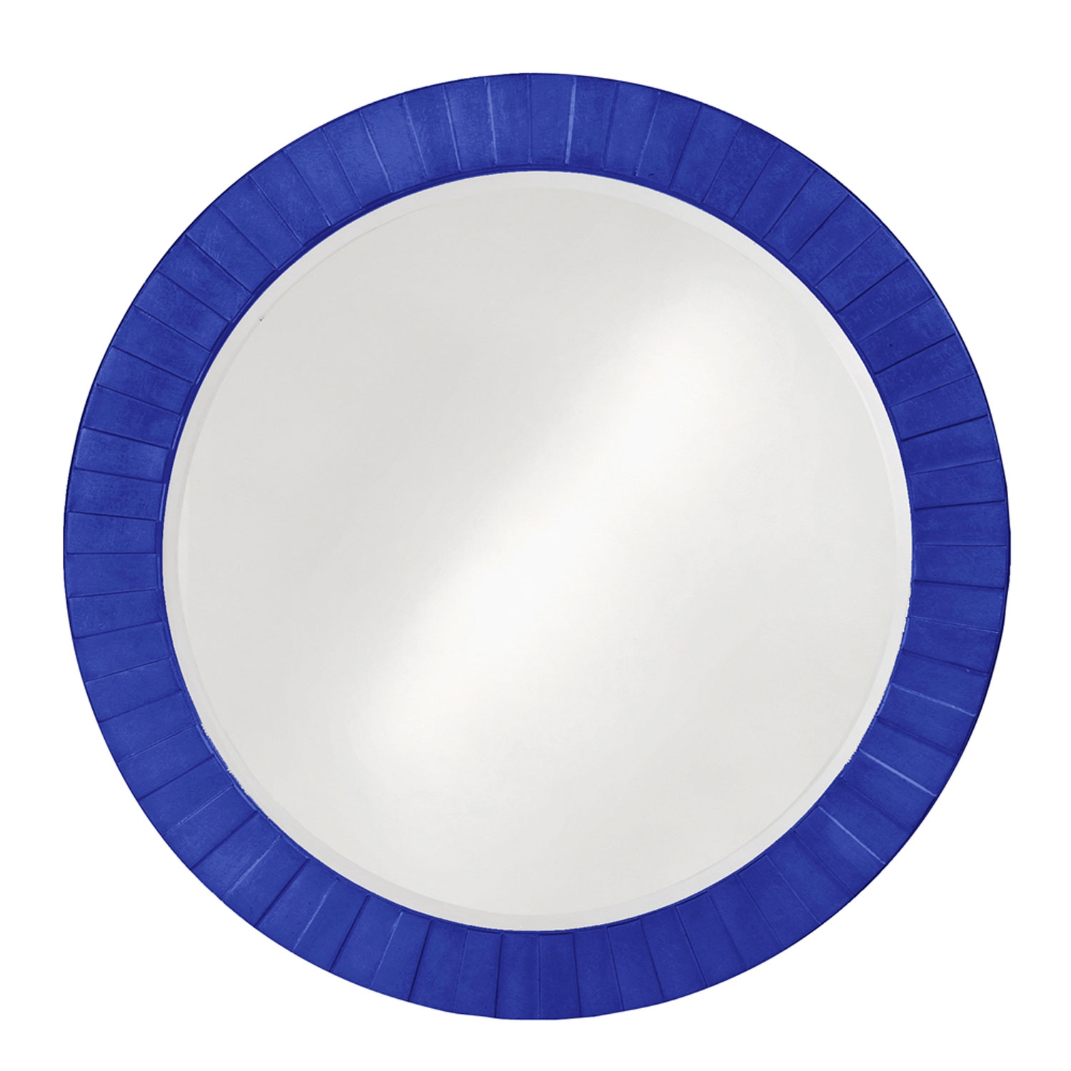 Serenity Royal Blue Round Mirror Howard Elliott Collection Round Regarding Blue Round Mirror (Image 13 of 15)