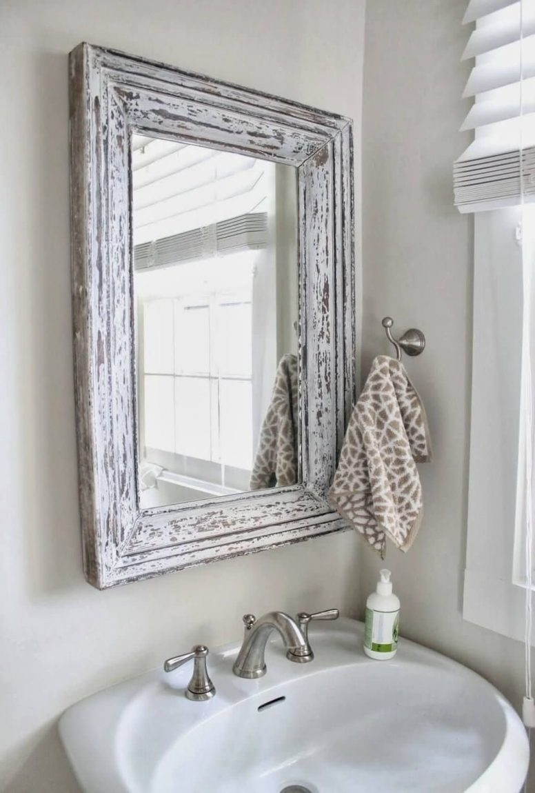 Shab Chic Bathroom Target Rectangle Long Modern Wall Mirror With Regard To Shabby Chic Mirror With Shelf (Image 13 of 15)