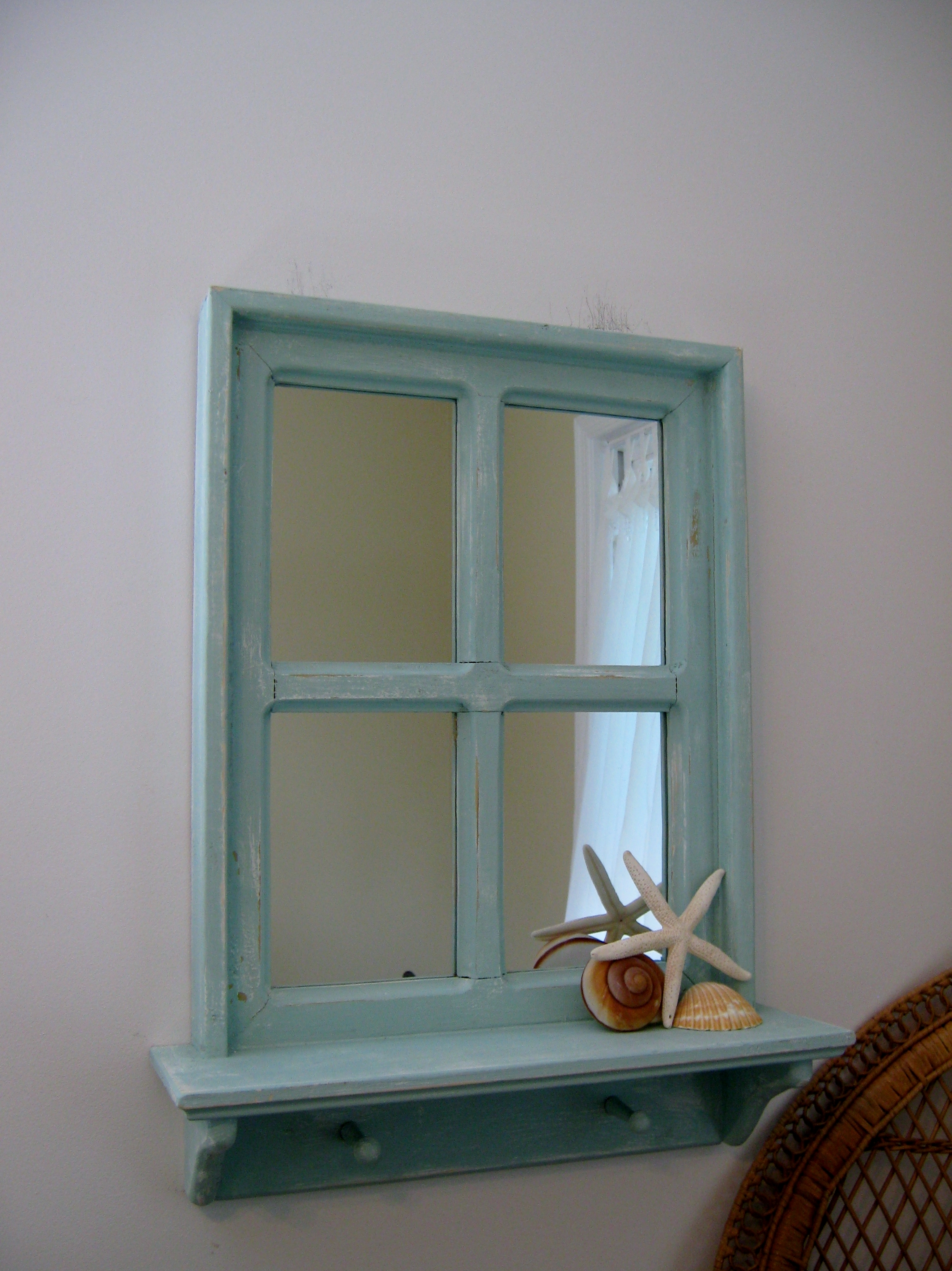 Shab Chic Hand Crafted Mirror 20 X 26 With A 4 Shelf And 2 Inside Shabby Chic Mirror With Shelf (Image 14 of 15)