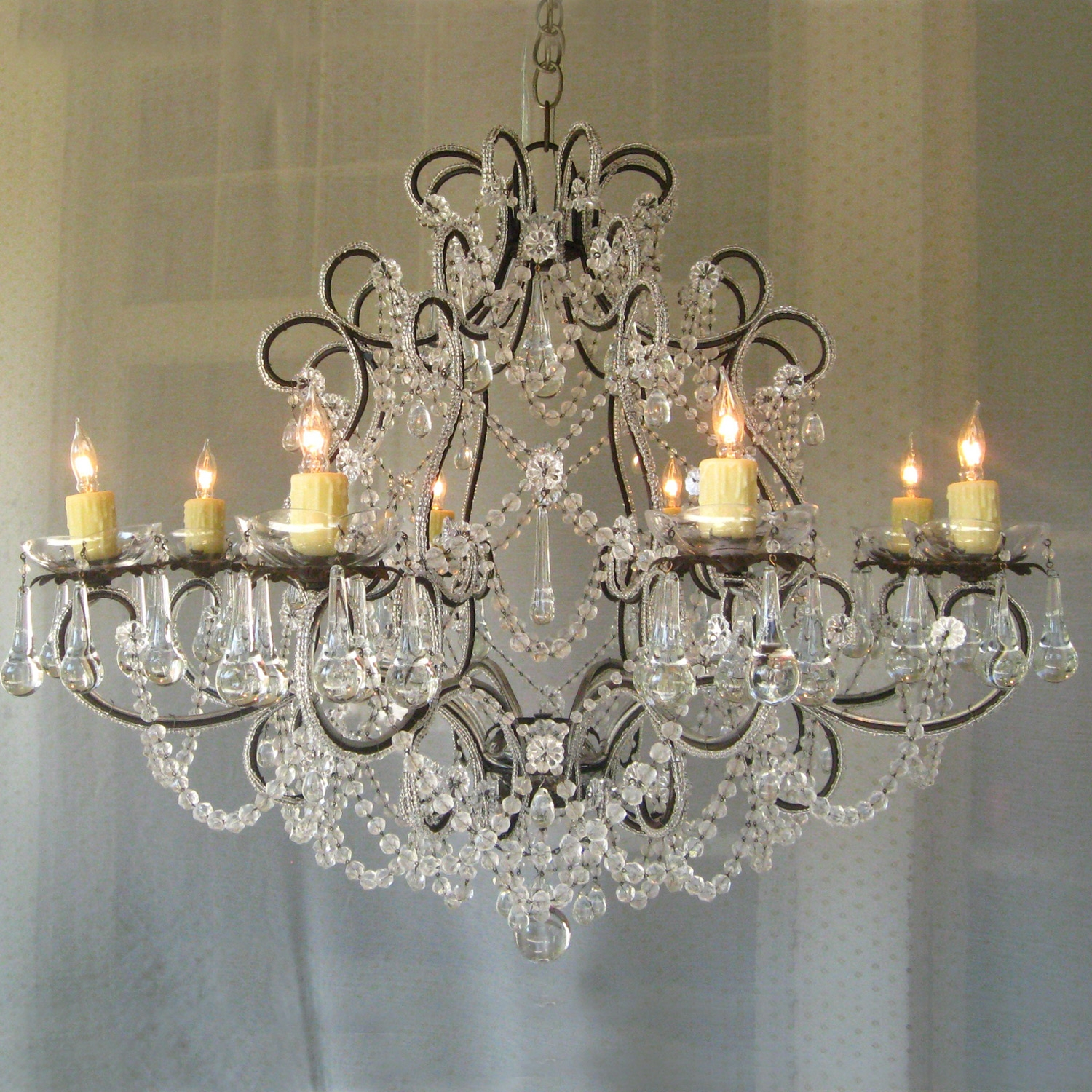 Shab Chic Lighting Style Chandeliers Table Lamps Wall Regarding Shabby Chic Chandeliers (View 3 of 15)