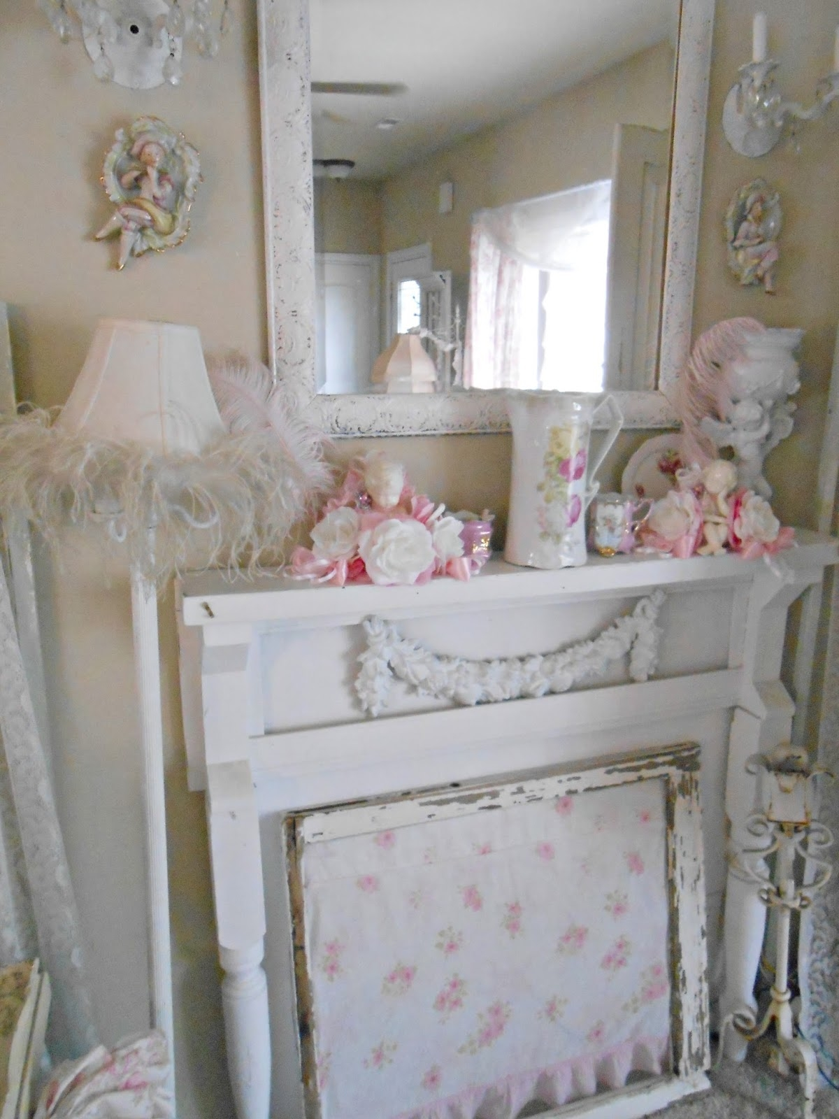 Shab Chic Living Rooms Grand Infobury With Regard To Cheap Shabby Chic Mirrors (View 11 of 15)
