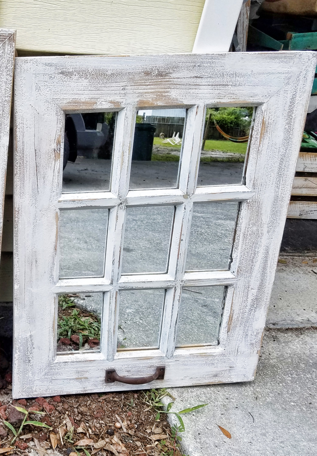 Shab Chic Mirror Etsy With Shabby Chic Window Mirror (Image 9 of 15)