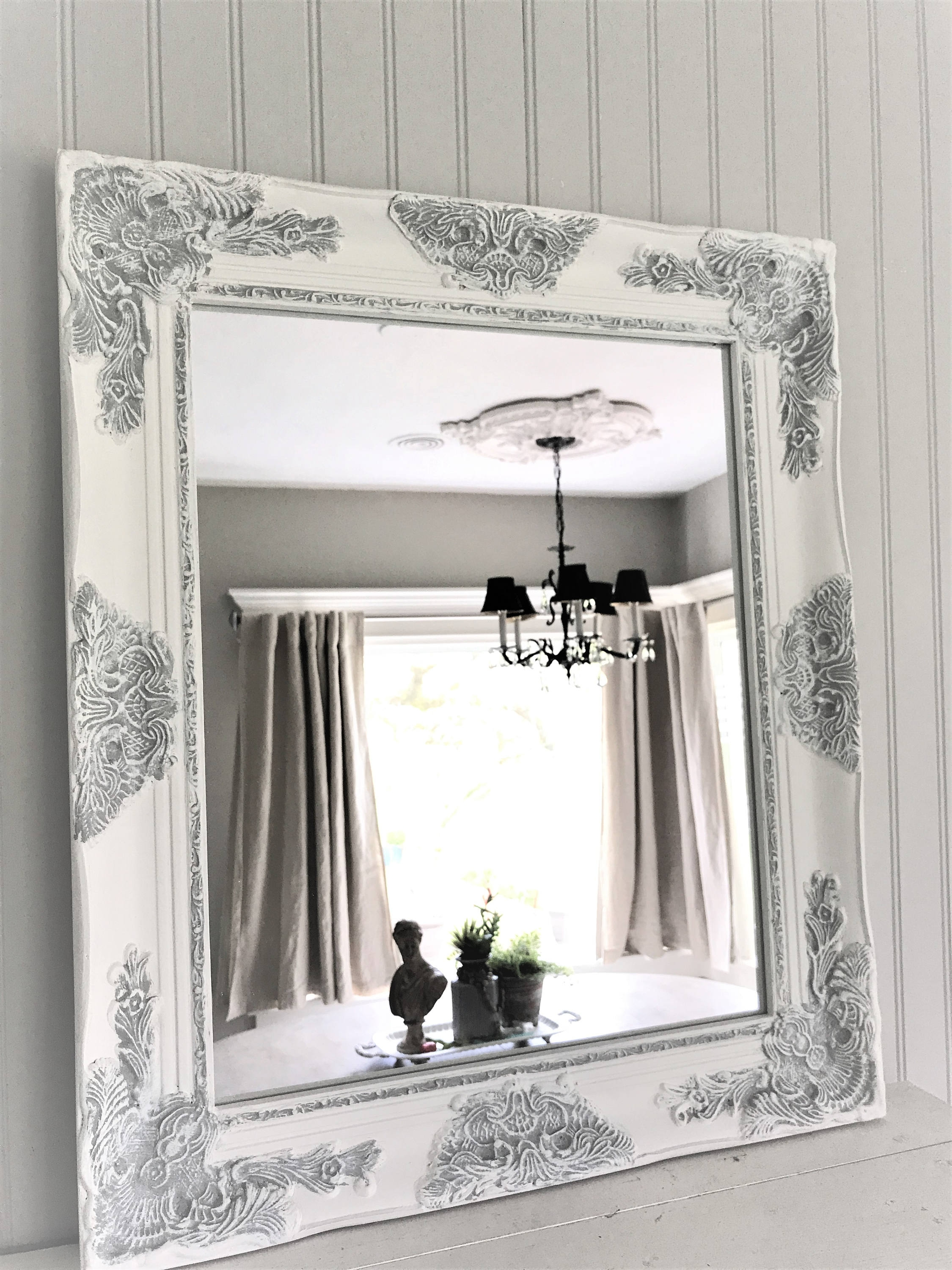 Shab Chic Mirror Large Mirror Bathroom Mirror Vanity For Large Shabby Chic Mirror (Image 9 of 15)