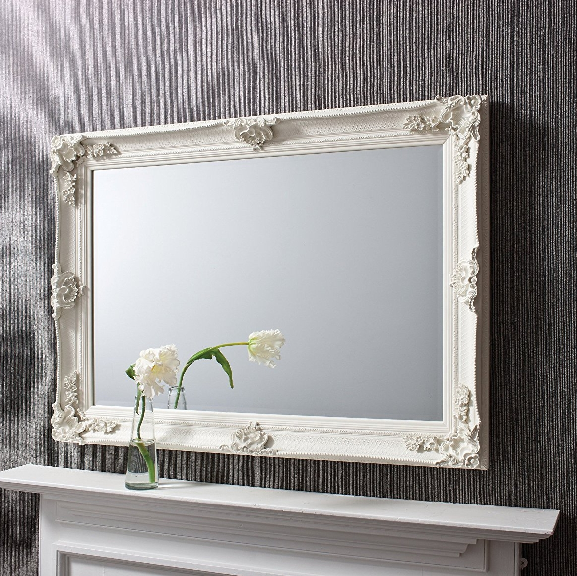 Shab Chic Mirrors Buy Online Exclusive Mirrors Inside Shabby Chic Cream Mirror (Image 8 of 15)