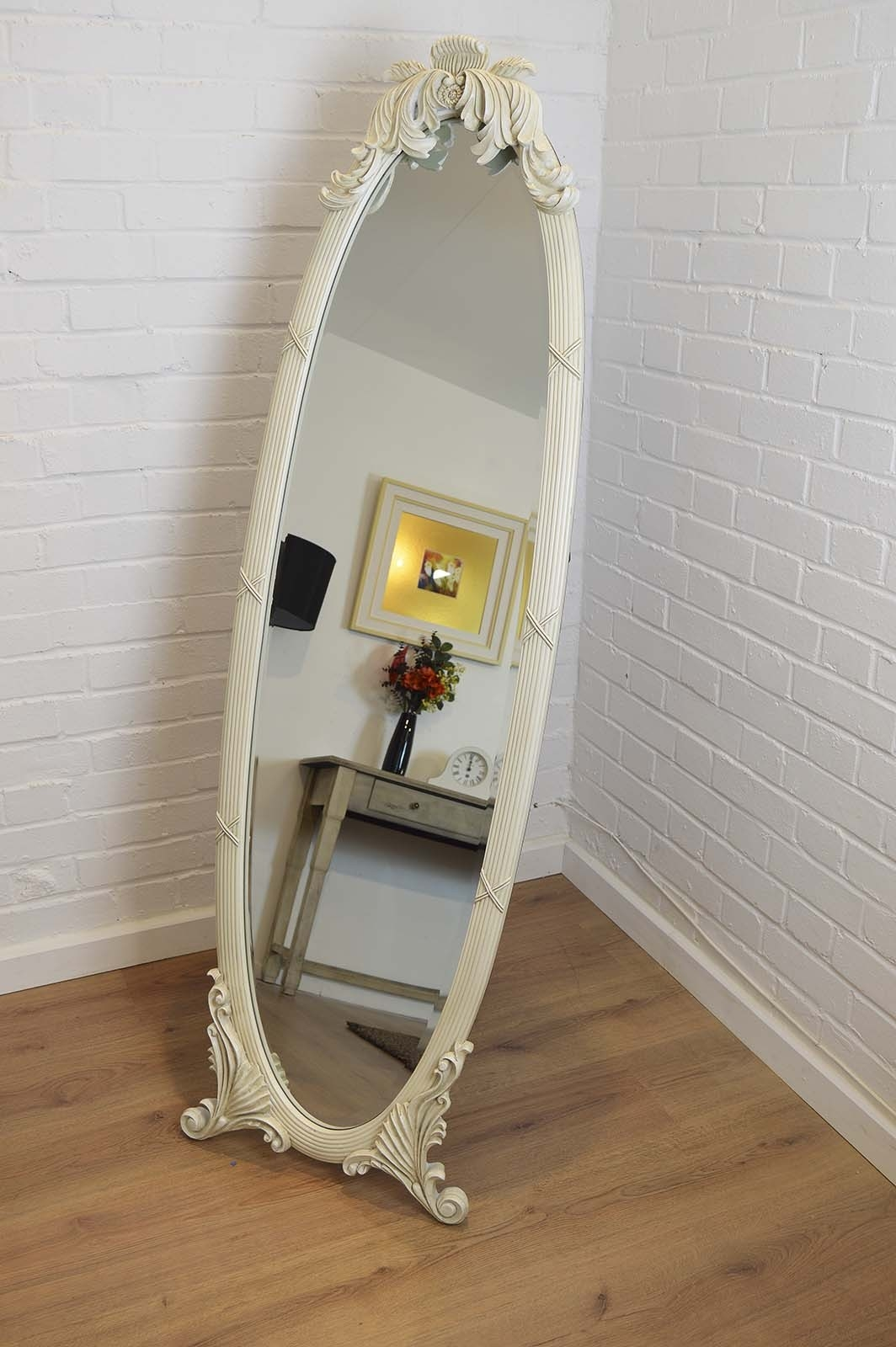 Shab Chic Mirrors Category Pertaining To Vintage Free Standing Mirror (Image 14 of 15)