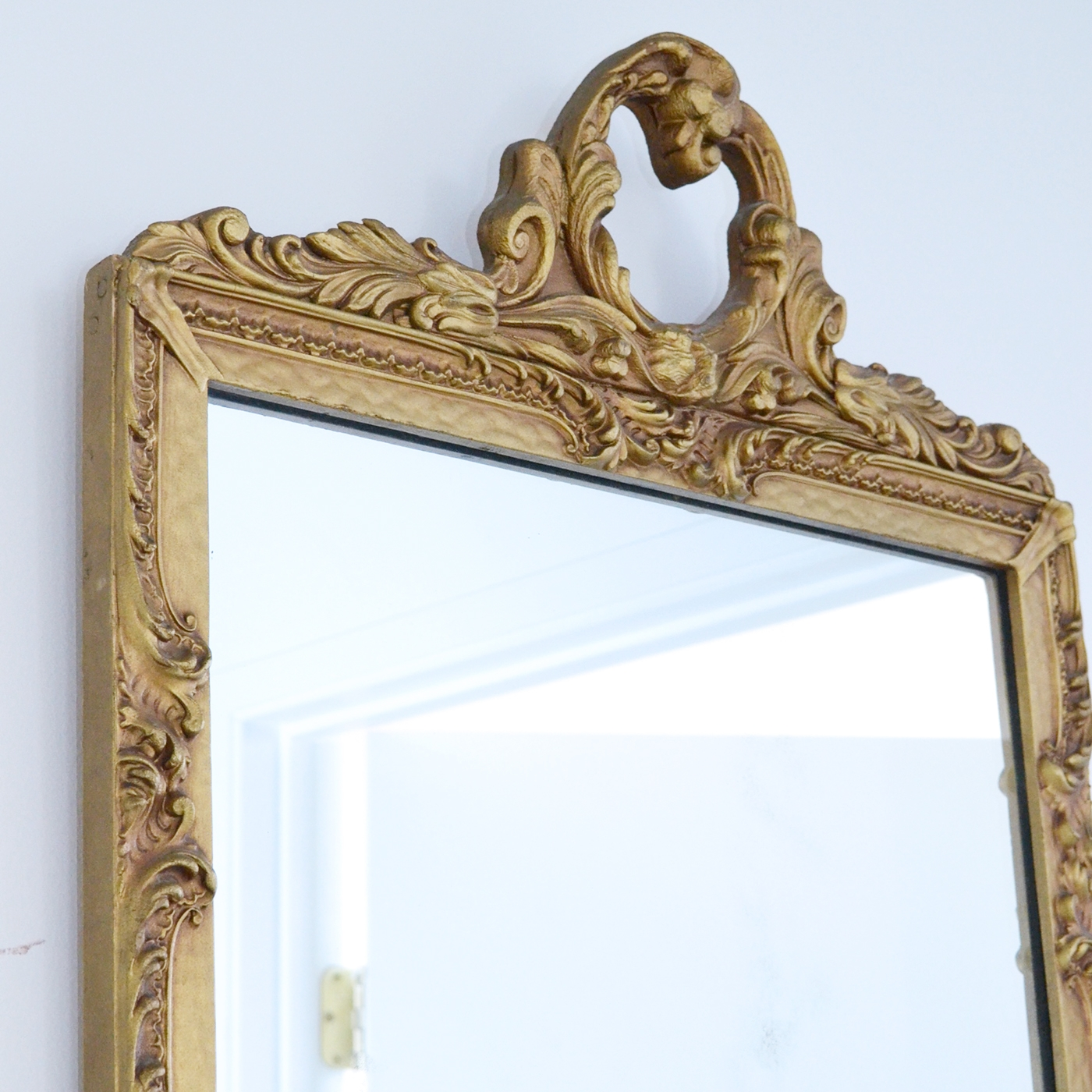 Shab Cottage Chic Stunning Vintage French Gold Mirror Vintage For French Gold Mirror (View 12 of 15)