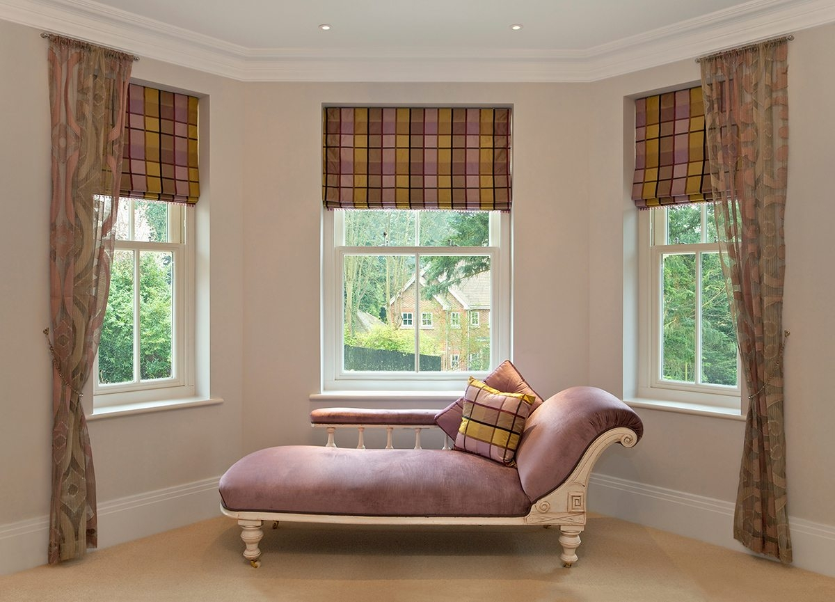 Shades Classic Drapery Chicago Il With Regard To Plaid Roman Blinds (Image 13 of 15)
