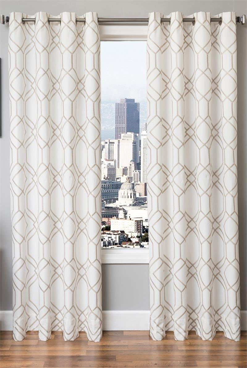 Shadow Jacquard Curtain New Bestwindowtreatments Curtain Pertaining To Ready Made Curtains 120 Inch Drop (Image 15 of 15)