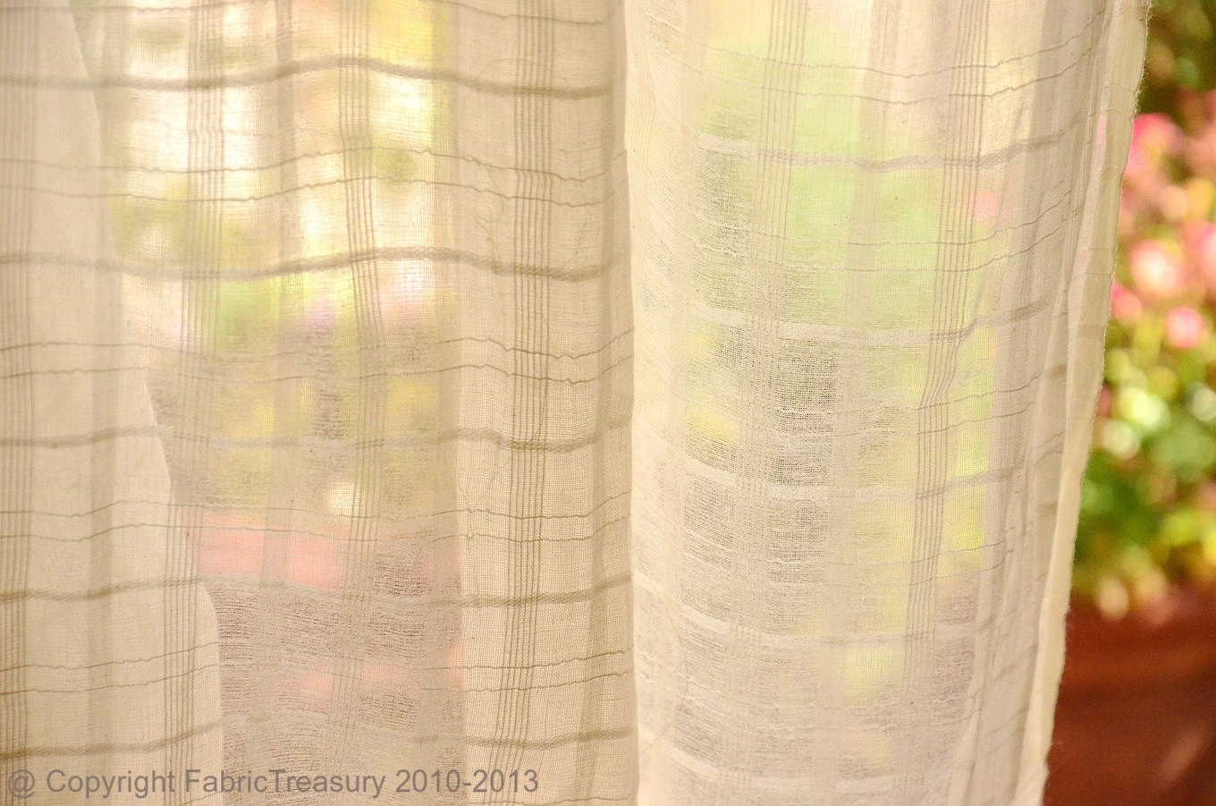 Sheer Cotton Curtain Fabric Unbleached Cotton Fabric For Throughout Natural Fabric Curtain (Image 13 of 15)