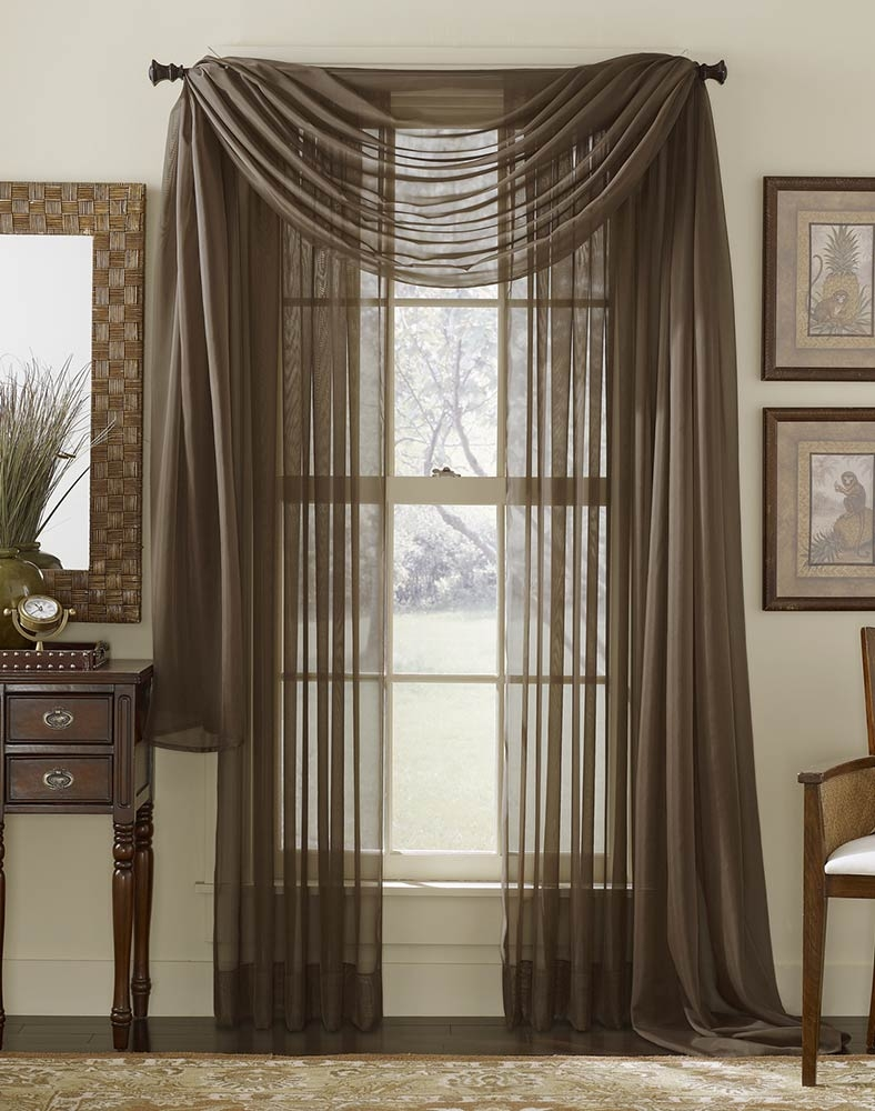 Sheer Curtains Valance Sale Platinum Voile Flowing Sheer Scarf In Voile Sheers (View 11 of 15)