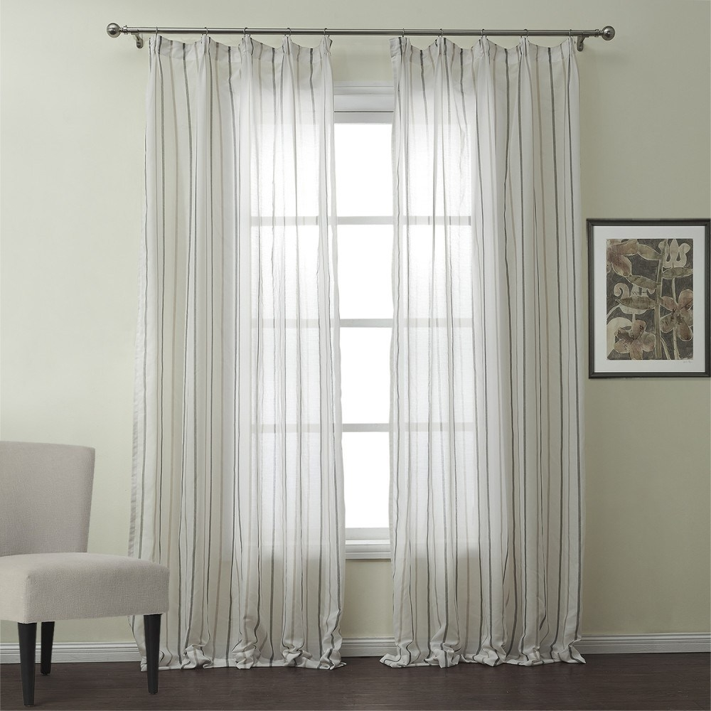 Sheer White Cotton Curtains In White Sheer Cotton Curtains (Image 11 of 15)