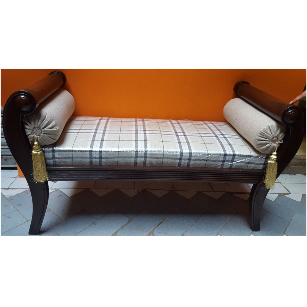 15 photos backless chaise sofa sofa ideas for Chaise wooden arms