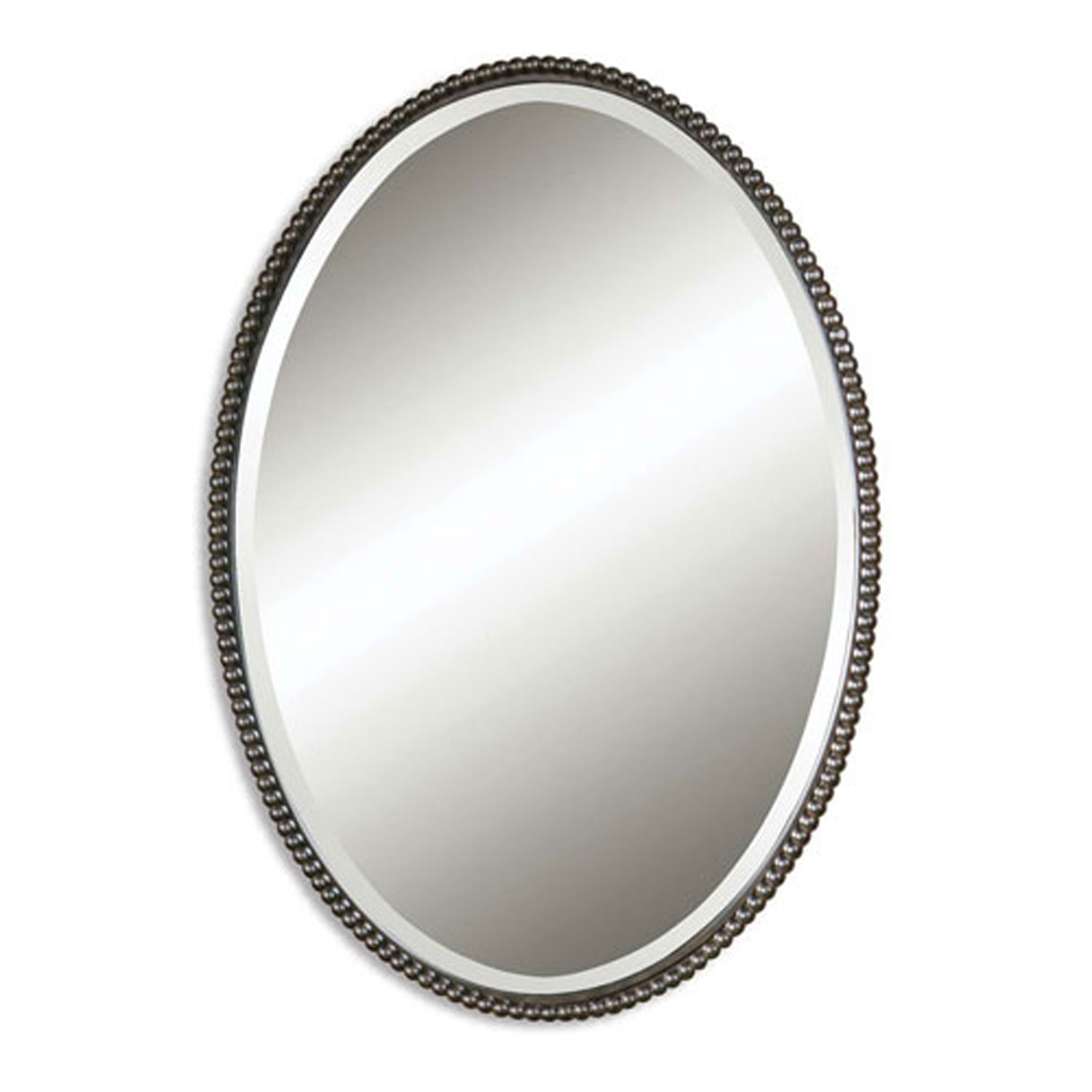 Sherise Oval Mirror Uttermost Oval Mirrors Home Decor Within White Oval Mirror (Image 9 of 15)