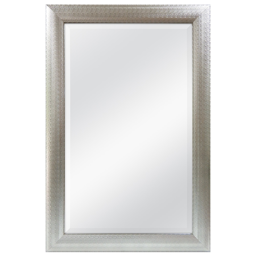 Shop Allen Roth 24 In X 36 In Silver Beveled Rectangle Framed For Contemporary Wall Mirror (Image 11 of 15)
