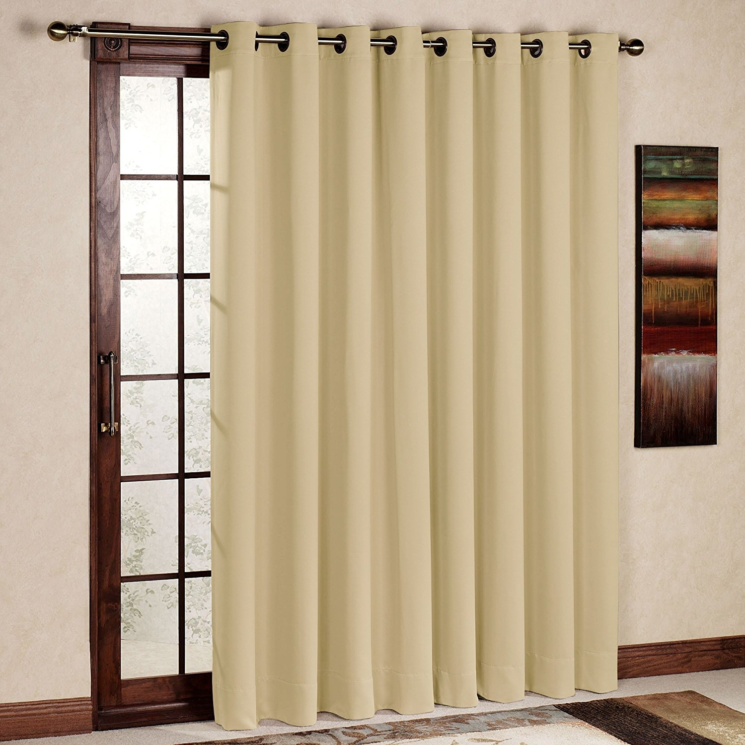 Shop Amazon Window Panels Inside Striped Door Curtain (Image 15 of 15)
