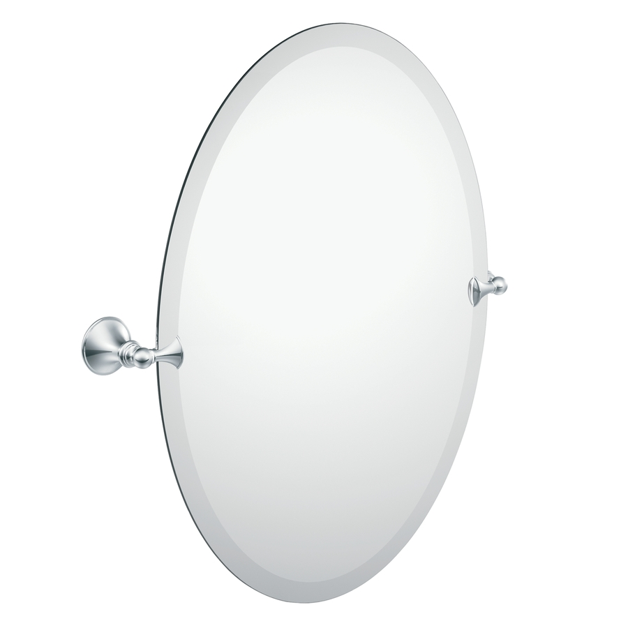 Shop Bathroom Mirrors At Lowes For White Oval Bathroom Mirror (Photo 5 of 15)