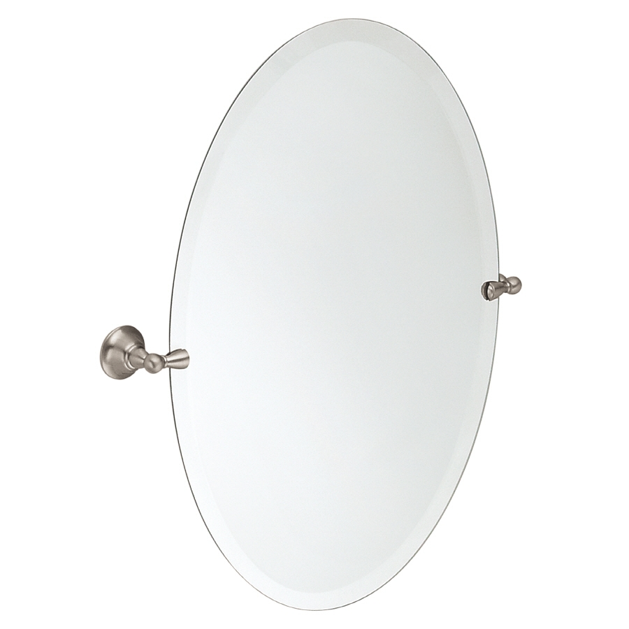 Shop Bathroom Mirrors At Lowes Intended For White Oval Bathroom Mirror (Image 12 of 15)