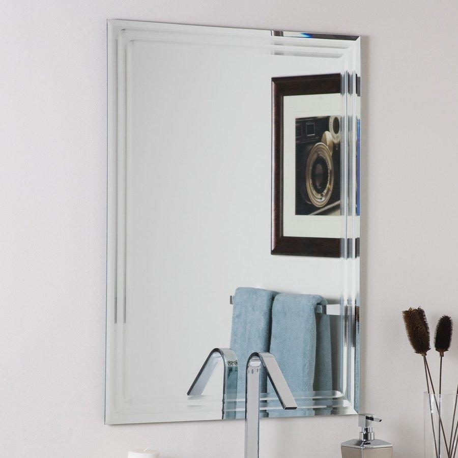 Shop Bathroom Mirrors At Lowes Pertaining To Large Frameless Bathroom Mirror (View 13 of 15)