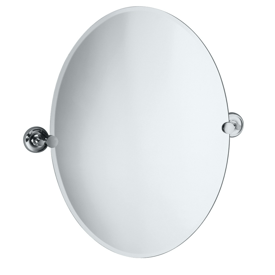 Shop Bathroom Mirrors At Lowes Pertaining To White Oval Bathroom Mirror (Image 13 of 15)