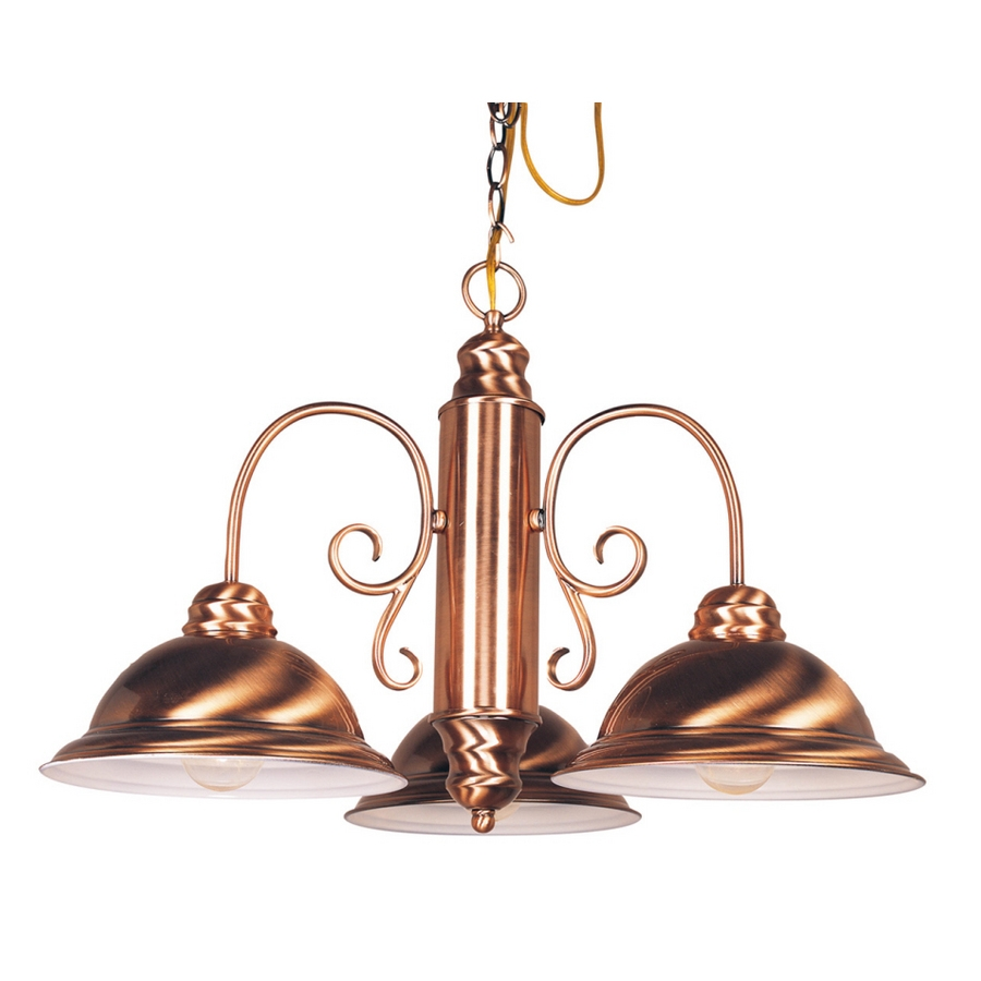 Shop Bel Air Lighting 3 Light Copper Chandelier At Lowes Throughout Copper Chandelier (Image 13 of 15)