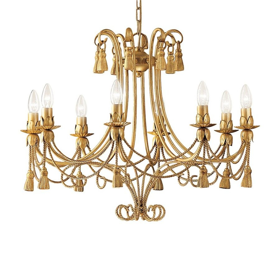 Shop Classic Lighting Rope And Tassel 28 In 8 Light French Gold Pertaining To French Gold Chandelier (Image 10 of 14)