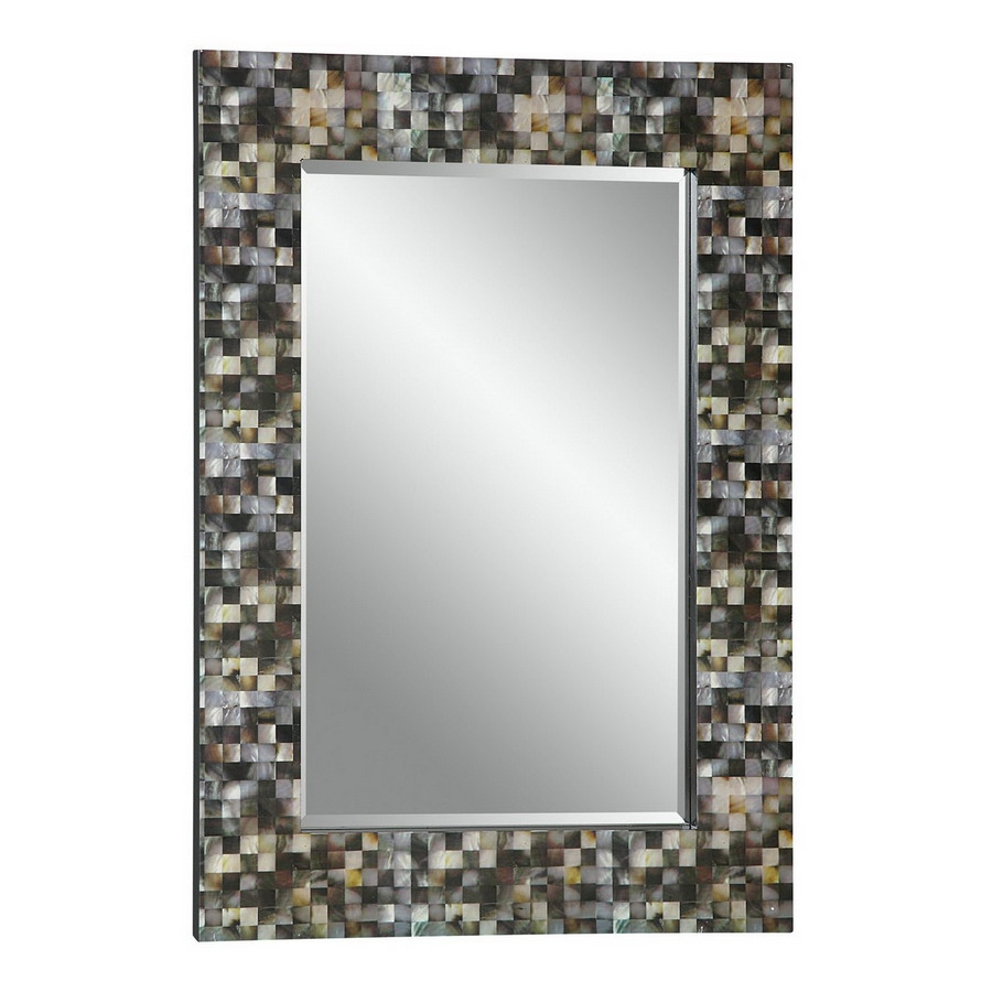 Shop Cooper Classics 30 In X 42 In Faux Mother Of Pearl Pertaining To Mother Of Pearl Wall Mirror (View 9 of 15)