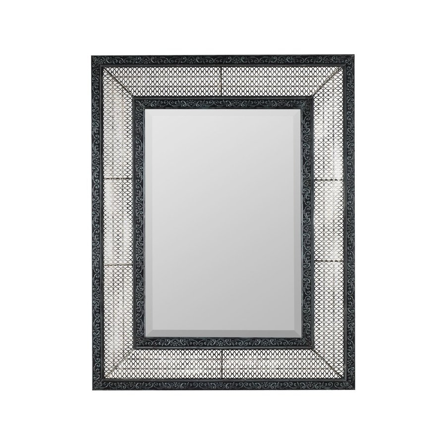 Shop Cooper Classics Dearborn 3175 In X 4075 In Distressed Gray Throughout Contemporary Wall Mirror (Image 13 of 15)