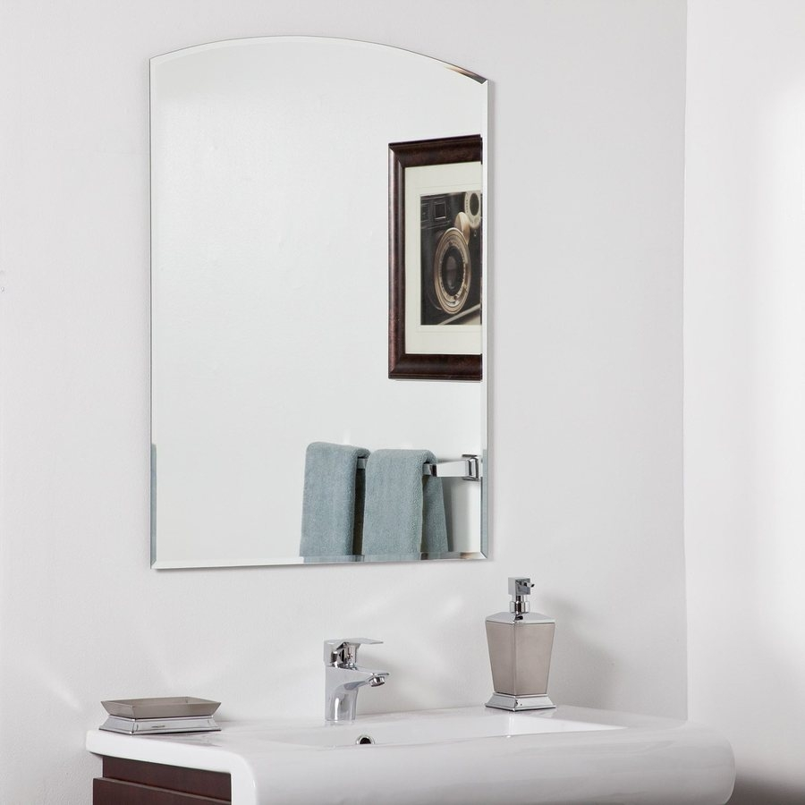 Shop Decor Wonderland Katherine 236 In X 315 In Arch Frameless Inside Arched Mirrors Bathroom (View 9 of 15)