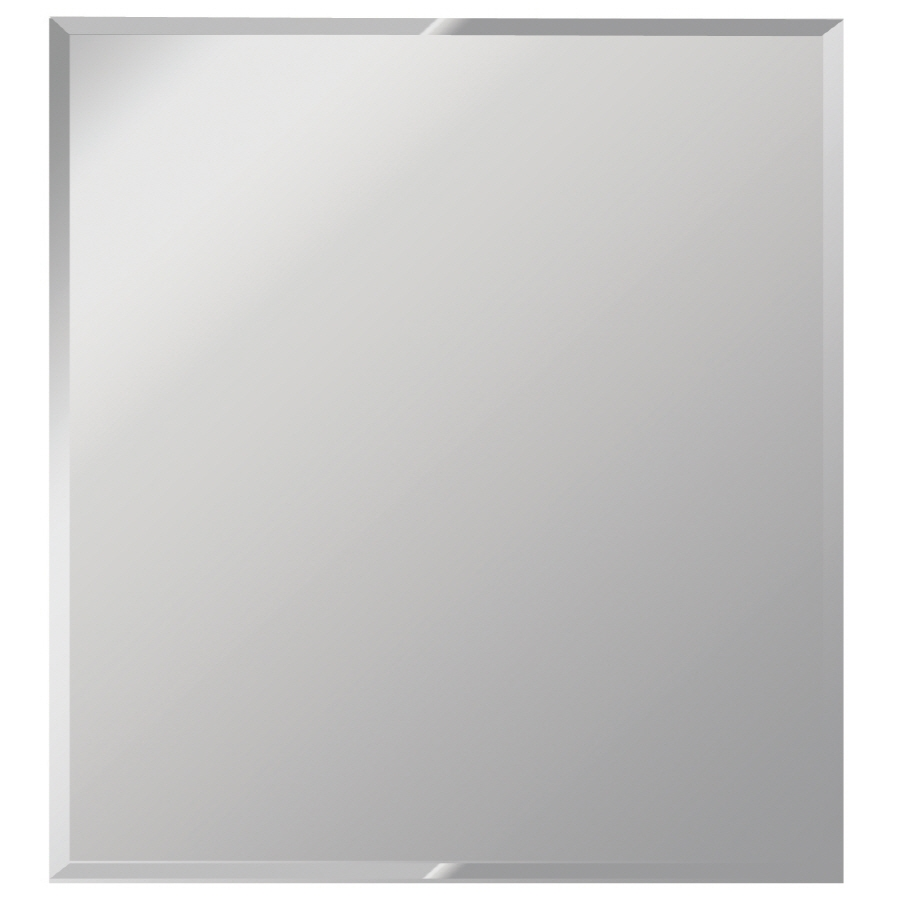 Shop Dreamwalls 36 In X 42 In Silver Beveled Rectangle Frameless Regarding Mirror Bevelled Edge (Image 14 of 15)
