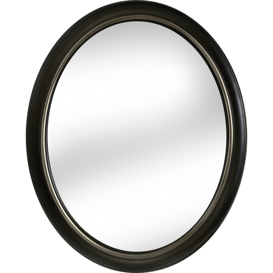 Shop Mirrors Mirror Accessories At Lowes Regarding Black Oval Mirror (Image 12 of 15)