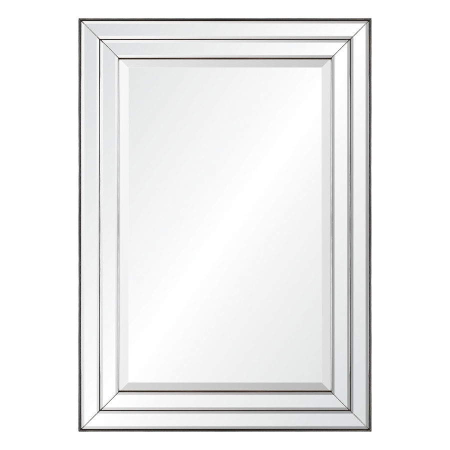 Shop Mirrors Mirror Accessories At Lowes Throughout Wall Mirror Without Frame (View 7 of 15)