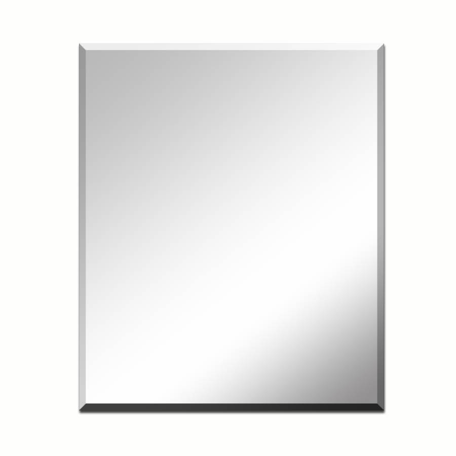 Shop Mirrors Mirror Accessories At Lowes With Square Frameless Mirror (Image 10 of 15)