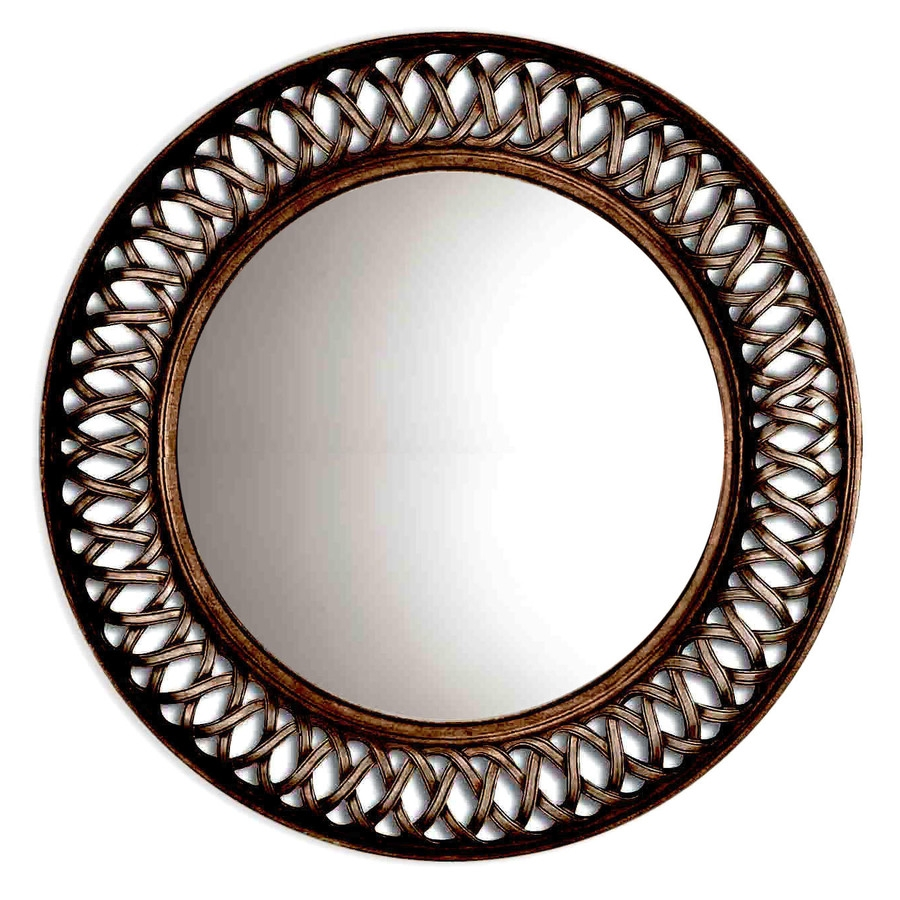 Shop Oil Rubbed Bronze Round Framed Wall Mirror At Lowes Intended For Bronze Wall Mirrors (Image 11 of 15)