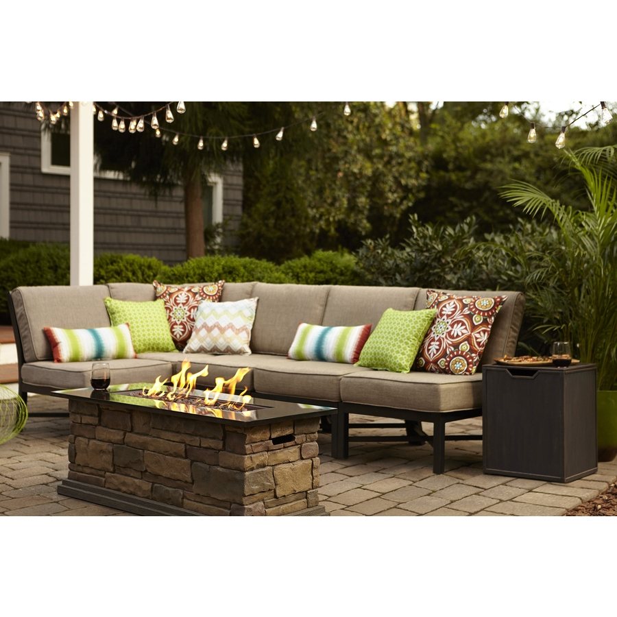 Shop Patio Conversation Sets At Lowes With Regard To 10 Piece Sectional Sofa (Image 14 of 15)