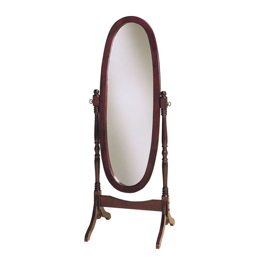 Shop Powell 225 In X 5925 In Oval Floor Mirror At Lowes Pertaining To Free Standing Oval Mirror (Image 15 of 15)