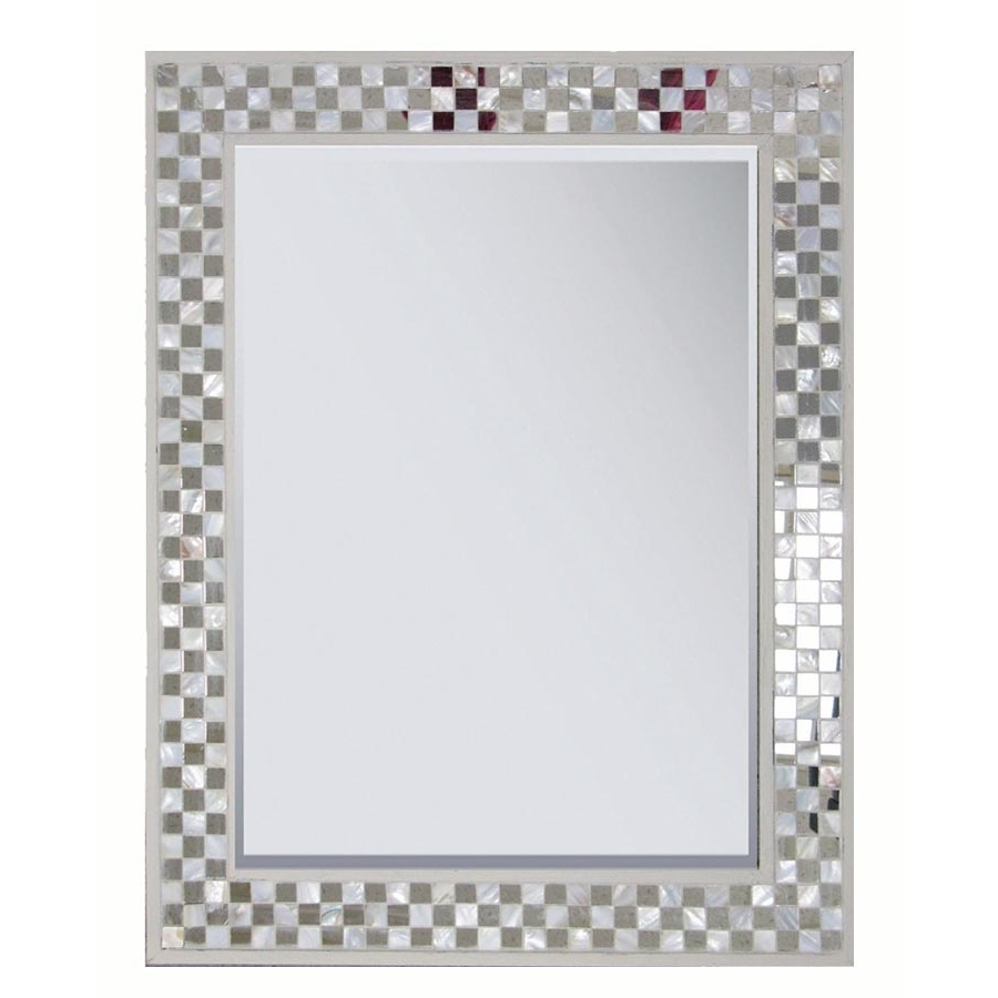 Shop Style Selections 22125 In X 28375 In Cream Polished Intended For Mother Of Pearl Wall Mirror (View 12 of 15)