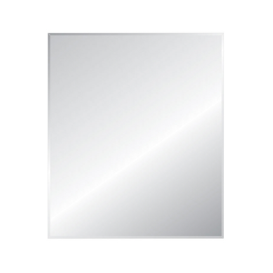 Shop Style Selections 30 In X 36 In Silver Beveled Rectangle Intended For Wall Mirror No Frame (Image 9 of 15)