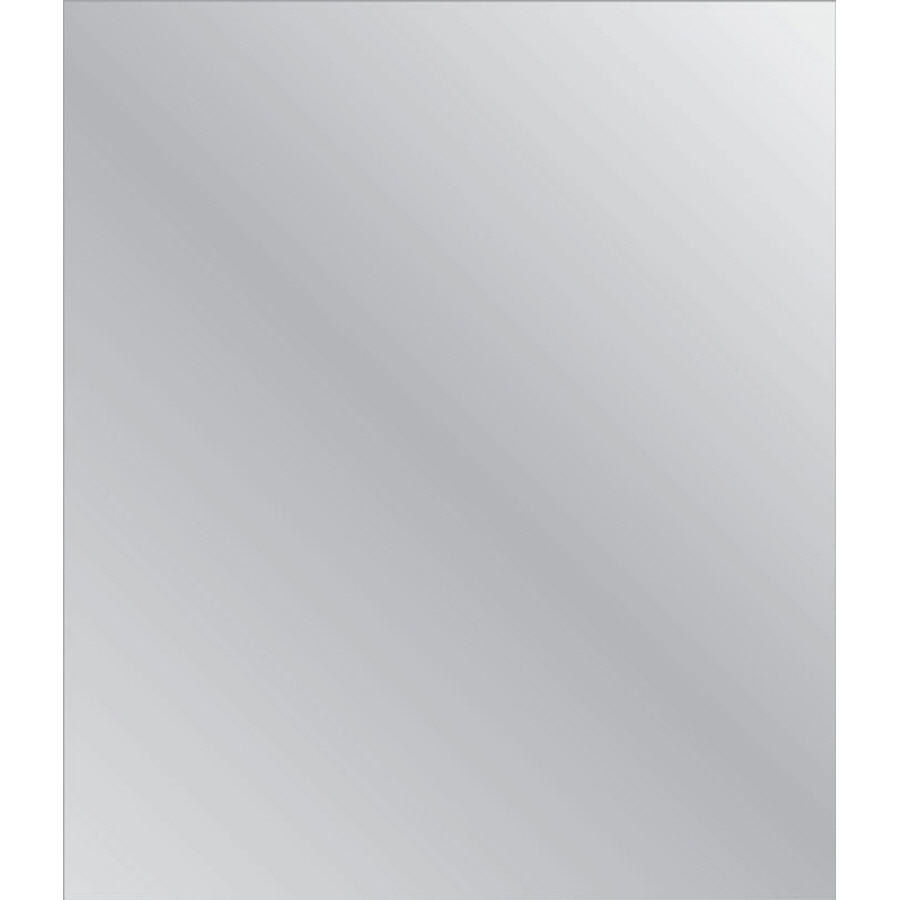 Shop Style Selections 30 In X 40 In Silver Polished Rectangle Pertaining To Wall Mirror No Frame (Image 10 of 15)