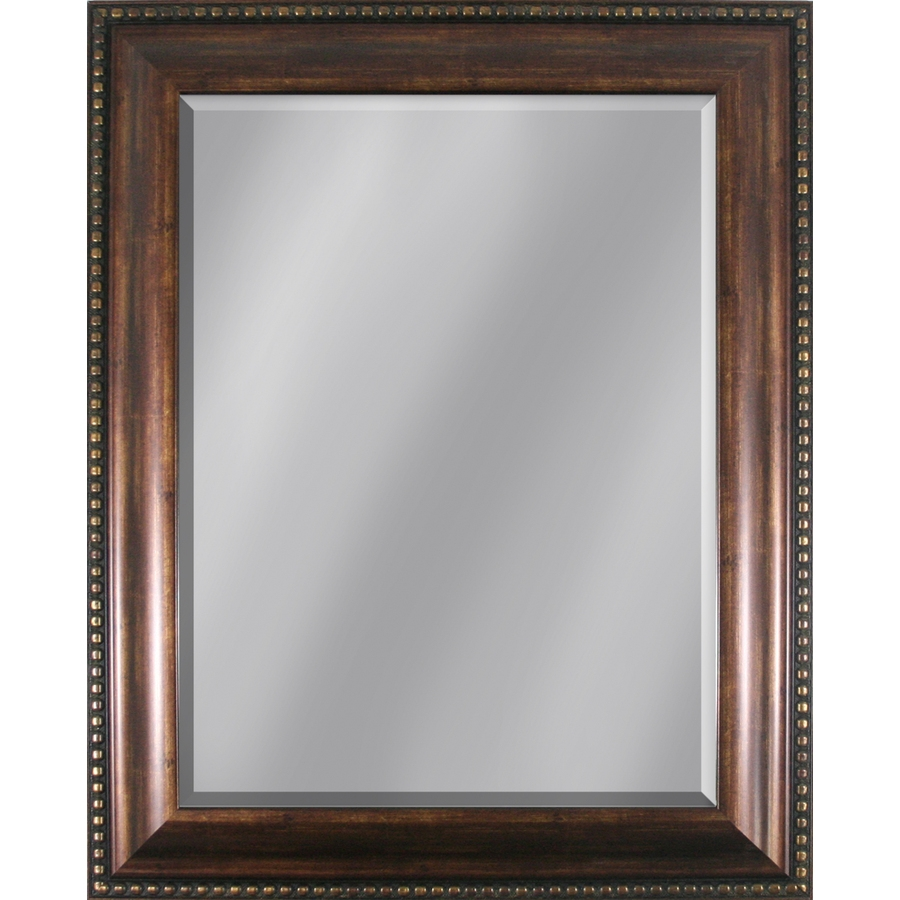 Shop Style Selections 3386 In X 2795 In Copper Beveled Rectangle Regarding Oak Framed Wall Mirrors (Image 14 of 15)