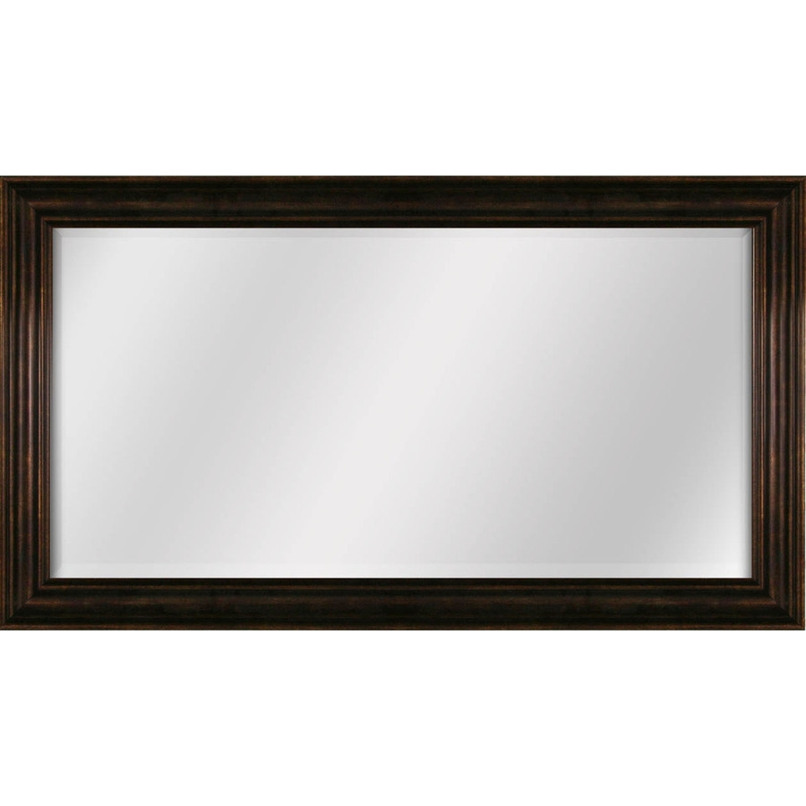 Shop Style Selections 445 In X 245 In Bronze Beveled Rectangle Intended For Bronze Wall Mirrors (View 11 of 15)