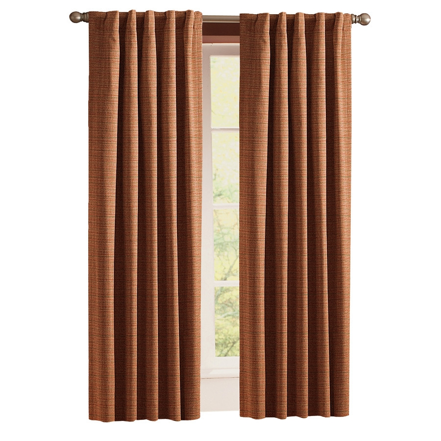 Shop Style Selections Roberta 84 In Brick Polyester Back Tab Room Inside Lined Thermal Curtains (Image 12 of 15)