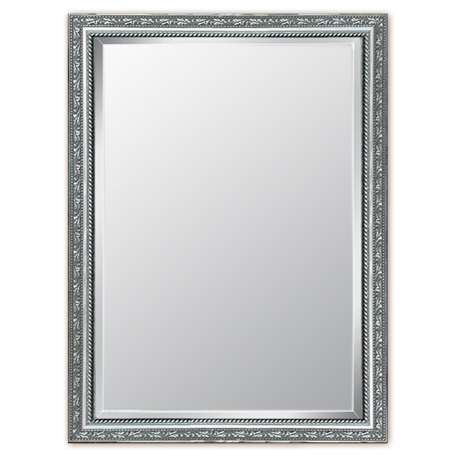 Shop Style Selections Silver Beveled Wall Mirror At Lowes Intended For Rectangular Silver Mirror (Image 10 of 15)