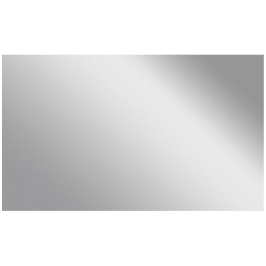 Shop Style Selections Silver Polished Frameless Wall Mirror At In Wall Mirror No Frame (Image 11 of 15)