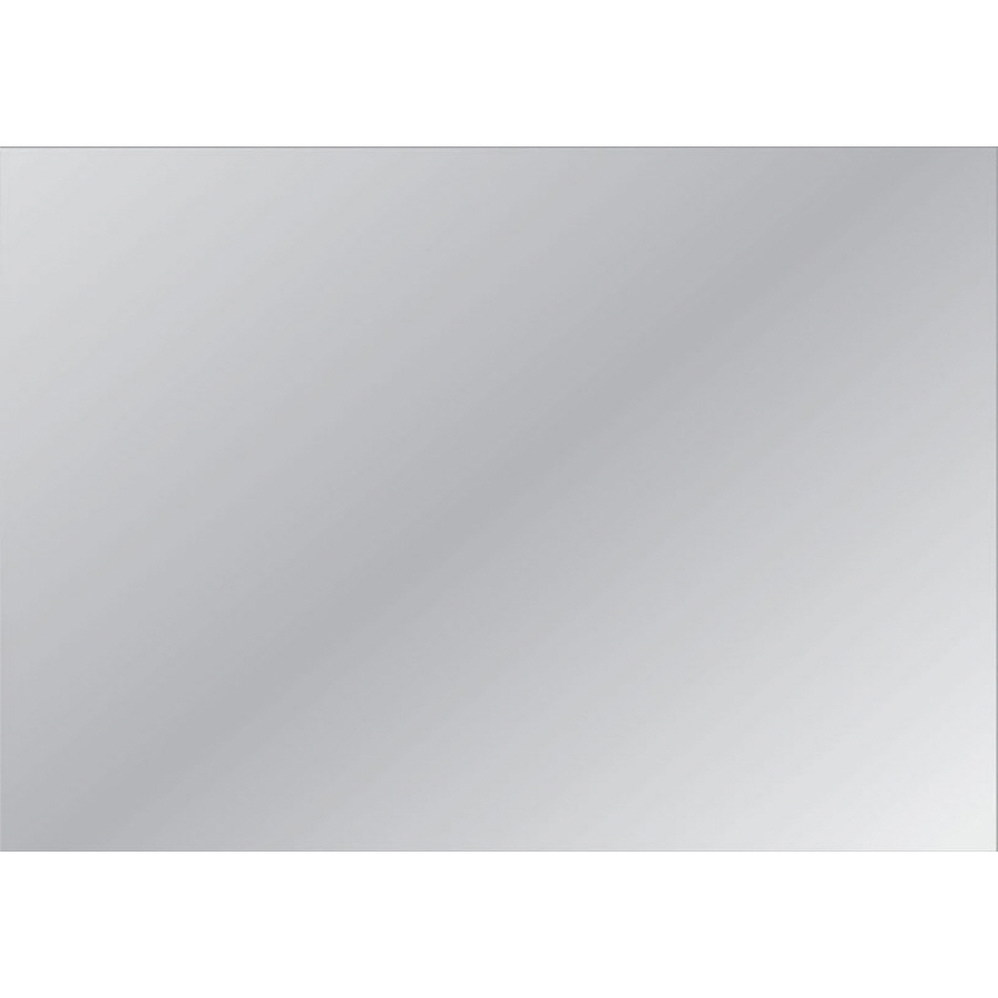 Shop Style Selections Silver Polished Frameless Wall Mirror At Intended For Wall Mirror Without Frame (View 15 of 15)