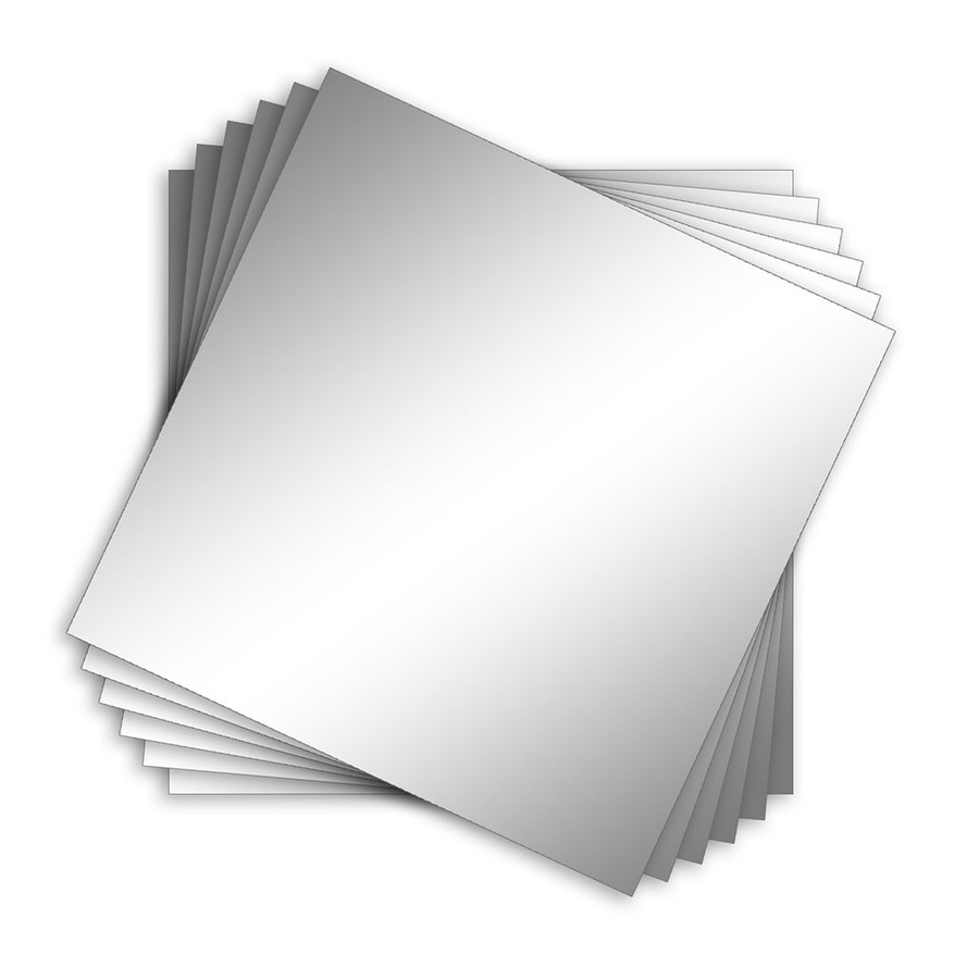 Shop Style Selections Silver Polished Square Frameless Wall Mirror In Square Frameless Mirror (Image 11 of 15)