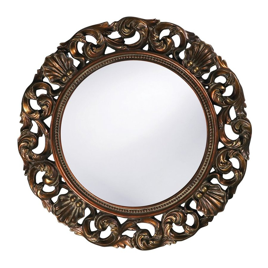 Shop Tyler Dillon Glendale 26 In X 26 In Antique Gold Polished With Regard To Ornate Round Mirror (View 12 of 15)