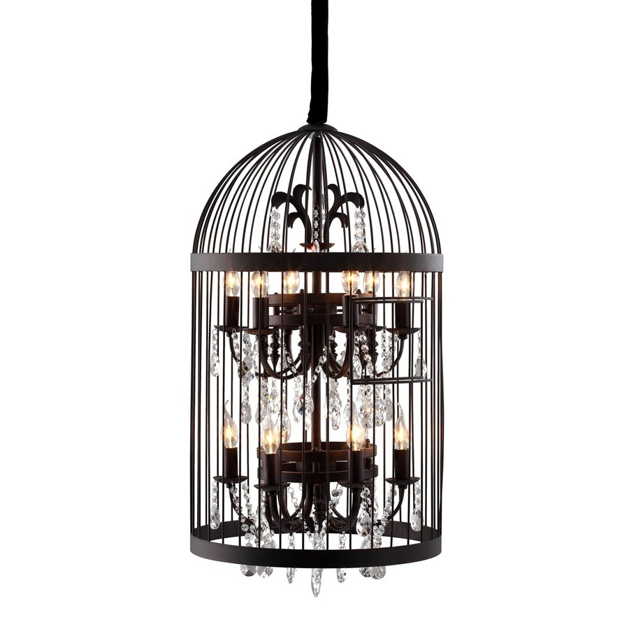 Shop Zuo Modern 199 In 12 Light Rust Cage Chandelier At Lowes Throughout Caged Chandelier (Image 13 of 15)