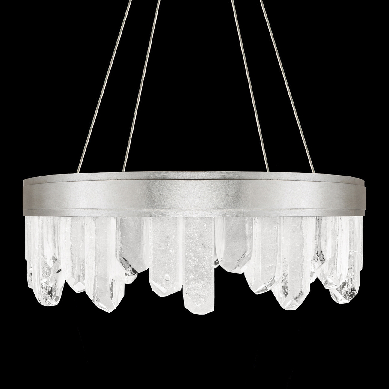 Short Crystals Chandelier Fine Art Lamps 888040 1 Throughout Short Chandelier (Image 11 of 15)